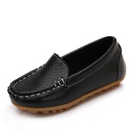 2017 Autumn Children Shoes Girls Boys Leather Shoes Slip-on Loafers Soft Sole Toddler Baby Moccasins Flats Fashion Kids Sneakers