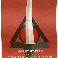 Harry Potter and the Deathly Hallows Minimalist Poster by risarodil