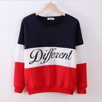2017 YHKGG Autumn and winter women  hoodies printed letters tracksuit for women's casual sweatshirt hoody