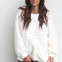 Missing Piece Ivory Teddy Bear Pullover Sweater