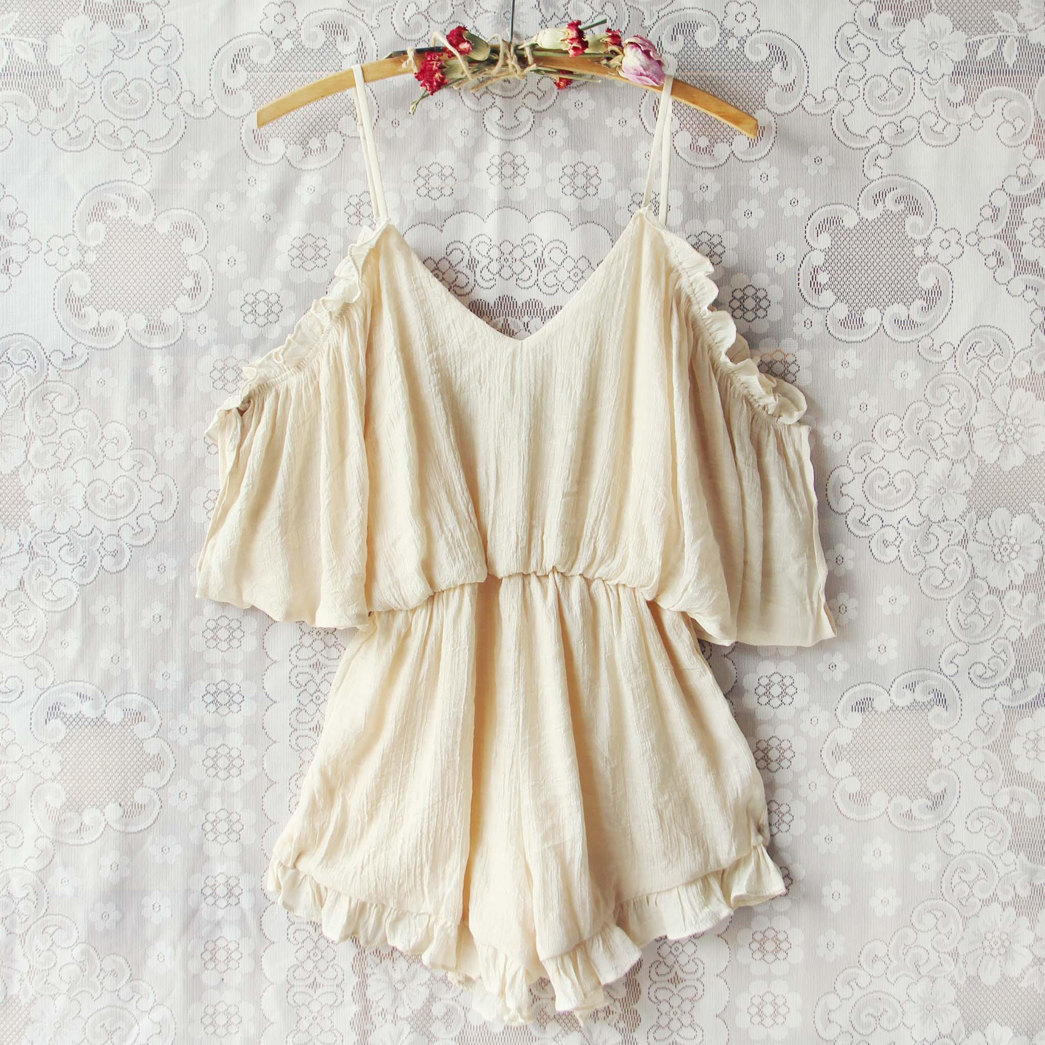 Image of The Drifter Romper in Cream