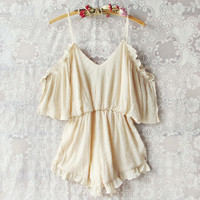 The Drifter Romper in Cream