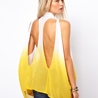 ASOS Shirt In Dip Dye With Cut Out Back