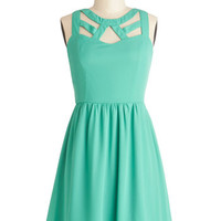 ModCloth Mid-length Sleeveless A-line A Bright Date Night Dress