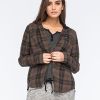 HURLEY Wilson Womens Hooded Flannel Shirt | Shirts & Flannels