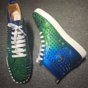 DCCKU62 Cl Christian Louboutin Louis Spikes Style #1855 Sneakers Fashion Shoes