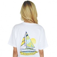 Come Sail Away Tee in White by Lauren James