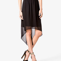 Solid High-Low Skirt