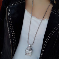 """Be Oh So Channel"" - Perfume Bottle Necklace -"