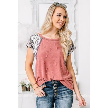 Setting The Record Straight Tri Printed Top