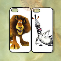 Alex and Marty Couple Case madagascar3-iPhone 5, iphone 4s, iphone 4, ipod 5, Samsung GS3-Silicone Rubber or Hard Plastic Case, Phone cover