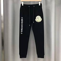 Moncler Fashion Men Women Casual Sport Pants Trousers Sweatpants Black