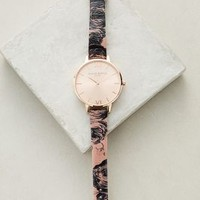 Olivia Burton Painterly Floral Watch in Black Size: One Size Watches