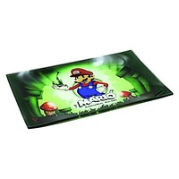 Mario Smoke Sesh Glass Tray - Shatter Resistant
