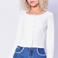 Smooth Talker Snap Top - Soft White