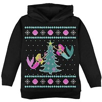 Mermaid Tree Ugly Christmas Sweater Toddler Hoodie
