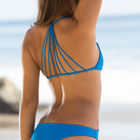 The Girl and The Water - Mikoh Swimwear - Miyako Bikini Bottom / Tahiti Blue - $78