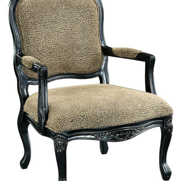 Reptile Print Black Accent Chair