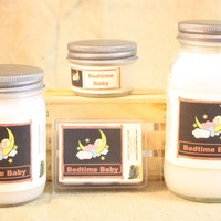 Bedtime Baby Scented Candle, Bedtime Baby Scented Wax Tarts, 26 oz, 12 oz, 4 oz Jar Candles or 3.5 Clam Shell Wax Melts