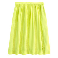 J.Crew Womens Collection Lace-Stripe Silk Skirt