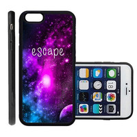 RCGrafix Brand Escape Galaxy Hipster Quote Apple Iphone 6 Plus Protective Cell Phone Case Cover - Fits Apple Iphone 6 Plus