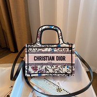 Dior canvas women's handbag shopping bag shoulder bag