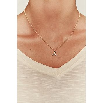 Aries Charm Necklace (Gold)