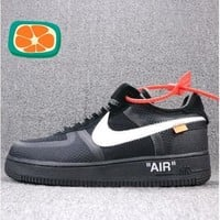 (Real Photo) OFF-White x High-end Goods Nike Air Force 1 Low OW Joint Name AO4606-001