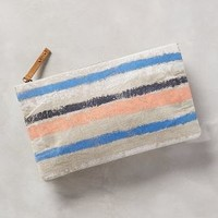 Miss Albright Naoko Linen Clutch in Neutral Size: One Size Clutches