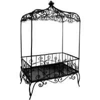 12.5 inch Handmade Vintage Victorian Canopy Style Black Décor Table Top Earrings Necklaces Bracelets Jewelry Holder / Organizer Stand / Display Rack