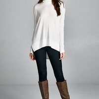 Iceland Luxe Knit Turtleneck - White