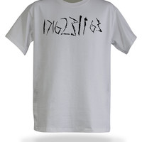Doctor Who Numbers T-Shirt - Silver, S