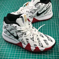 Nike Kyrie 4 White #3 Basketball Shoes - Best Online Sale