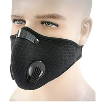 Activated Carbon Dustproof Mask Face Mask Filtration Exhaust Gas Anti Pollen Allergy PM2.5 Dust Mask Filter for Running Cycling
