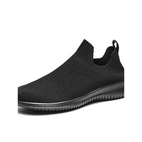 Men's Comfort Shoes PU Summer Athletic Shoes Walking Shoes Black / Black and White / White