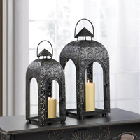 ARCH LARGE BLACK MEDALLION LANTERN