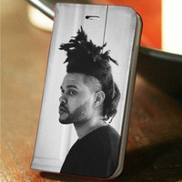 The Weeknd custom wallet case for iphone 4,4s,5,5s,5c,6 and samsung galaxy s3,s4,s5