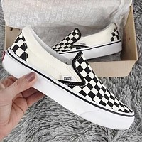 VANS Classic Slip On Checker Black/White Sneaker Black White Plaid B-CSXY