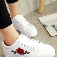 Embroidery Flower Shoes