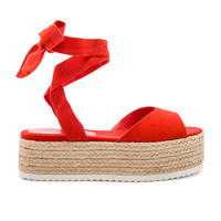About Us Colleen Platform in Red