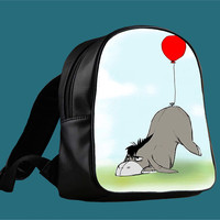 Eeyore and his Tail for Backpack / Custom Bag / School Bag / Children Bag / Custom School Bag *