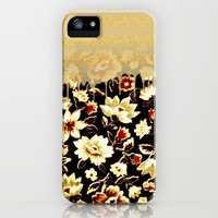Golden Flowers - for iphone iPhone & iPod Case by Simone Morana Cyla