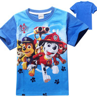 Boys Summer Paw Dogs Patrol Cartoon T Shirt Tops Tee Children Clothing Baby Boys T-Shirts Girls T Shirt free shipping