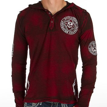 Affliction Feelin Lucky Henley Hoodie