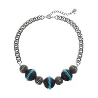Simply Vera Vera Wang Bead Necklace (Blue)