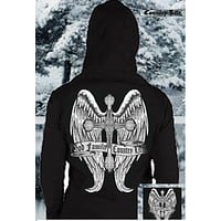 Country Life Outfitters Cross Wings God Family Vintage Unisex Hoodie