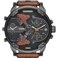 Men's DIESEL 'Mr. Daddy 2.0' Chronograph Leather Strap Watch, 57mm