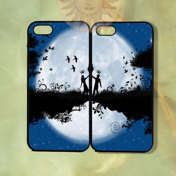 Love Couple Cases -iPhone 5, 5s, 5c, 4s, iphone 4 case, ipod 5, Samsung GS3 Gs4 -Silicone Rubber or Hard Plastic Case, Phone cover