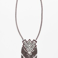 Spring Street Woven Statement Necklace
