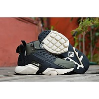 Huarache X Acronym City Mid Leather Black/green Sneaker Shoes | Best Deal Online